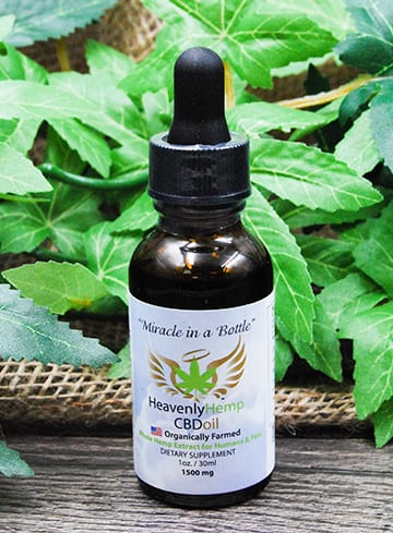 1500mg bottle of heavenly hemp cbd oil for sale