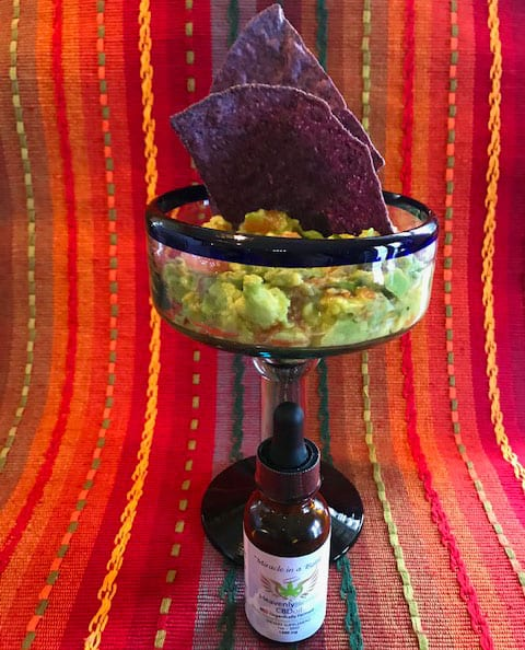 Guacamole with heavenly hemp cbd oil